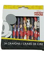 Disney Mickey Mouse 24 Non Toxic Crayons. New