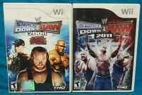 WWE Smackdown vs Raw 2008 ecw + 2011 -  Nintendo Wii Wii U Games Working Tested
