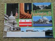 .POSTCARD. MUULTIVIEW.WASHINGTON DC..POSTED 21.4.2004.70c STAMP.