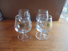"Cognac Brandy Glass Set Of 4 Made In France Barware 3-5/8"" High Luminarc"