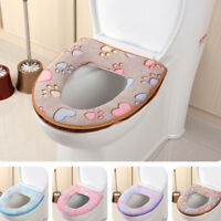 Soft Bathroom Warmer Toilet Seat Cloth Closestool Washable Lid Top Cover Pad