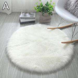 30-50cm Soft Round Area Rug Shaggy Home Bedroom Carpet Fluffy Faux Fur Floor Mat