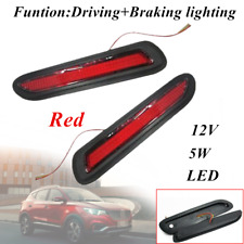 2pcs 5W 12V Red Lens LED Car Rear Bumper Reflectors Taillight Brake Fog  Light