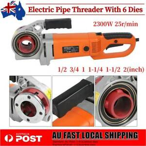 Portable Electric Pipe Threader Threading Machine with 6 Dies Pipe Threader Tool