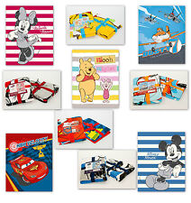 Kuscheldecke Disney Coral Fleece 120x150cm Mickey Minnie Mouse Cars Planes Pooh
