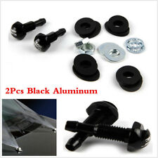 2Pcs Aluminum Black Car Hood Front Windshield Washer Wiper Water Spray Nozzles