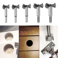 5Pcs 15-35mm Forstner Drill Bits Shank Hinge Hole Cutter Set for Woodworking