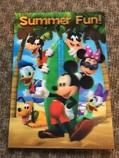 Disney Movie Club Exclusive 3-d Lenticular Mickey Mouse Summer Fun Lithograph
