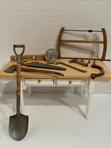 Vintage Artisan SIR THOMAS THUMB Wood & Metal Tools (8) Dollhouse Miniature 1:12