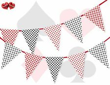 Casino Theme Game Cards Hearts Spade Clubs Diamonds Bunting Banner 16 flags