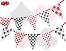 CASINO THÈME JEU CARTES Cœurs Pique CLUBS diamants Guirlande fanions 16 DRAPEAUX