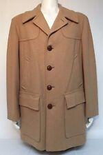 Pendleton Men's 100% Virgin Wool Camel Tan Lined Overcoat Size XL