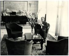 Italia, Sullo Fiorentino, Ministro del Lavoro  Vintage silver print Tirage arg