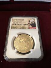 2015 China Panda 1 oz Gold Smithsonian With NGC PF70
