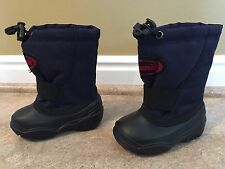 Kamik Insulated Snow/Rain Boots Todder Sz 5 Navy Slip-On w/Fastener & Elastic