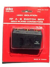A/B Switch Coaxial 2 Way 75 Ohm Inputs GOLD Plated High Isolation A B Switch
