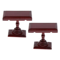 2 Pack 1/12 Dollhouse Furniture Wood Coffee Table Model Miniature Accessory
