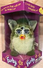 RARE NEW IN BOX 1999 Tiger Electronics Furby Two Tone Green Striped Blue Eyes