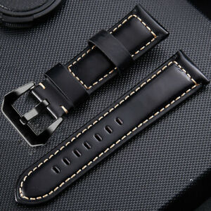 Top Layer Cowhide Genuine Leather Watch Bands Wristwatch Straps Watch Parts 26mm