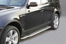 PEDANE POGGIAPIEDI SOTTOPORTA , SIDESTEPS , MISUTONIDA D. 50 INOX PER BMW X3 '03