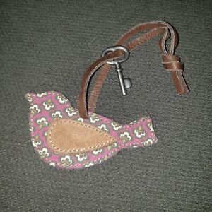 Fossil Bird Purse Tag Hanger Charm Key
