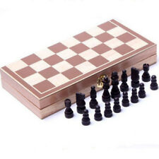 Standard Game Vintage Wooden Chess Set Foldable Board Great Gift