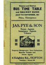 Skipton and District: Bus timetable and Railway Guide: July to Sept 1951