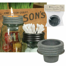 Galvanized Metal Sundries Holder Mason Jar Tapered Cup Lid for Votives Tealights