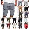 Mens Cargo Summer Holiday Casual Jogger Sport Shorts Army Combat Elastic Pants
