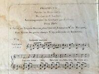 Partitura Profecía Letras Dumoustier Música Guitarra Lira V De Omont