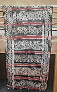 Vintage Moroccan Zemmour tribal kilim  280 x 148cm     9ft2 x 4ft10