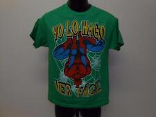 "NEW ""YO LO HAGO VER FACIL SPIDERMAN  YOUTH (18/20) XLARGE XL SHIRT MARVEL 70LS"
