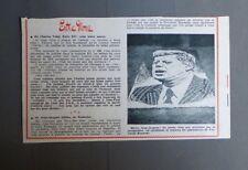 PUBLICITE ANCIENNE ADVERT CLIPPING 091017 PHOTO DE JOHN KENNEDY EN PETALE JASMIN