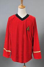 Star Trek TOS Scotty Red Shirt Uniform Adult Halloween Costumes *Custom Made*