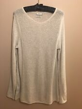 Vince Women's 100% Cashmere Lightweight Crew Neck Sweater Oatmeal/Gray Size M