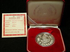 S-6: SINGAPORE Silver 5$ Proof dated 1983, SouthEast Asia Games,c/w Cert, Case