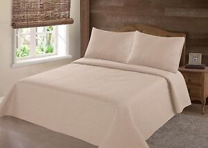 EGYPTIAN NENA SOLID QUILT BEDDING BEDSPREAD COVERLET PILLOW EVERYTHING MUST GO!