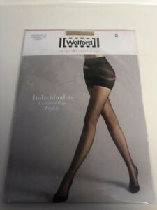 Wolford Shape & Control Individual 10 Control Top Tights Black or Nude