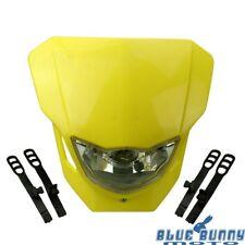 Motorcycle Dirt Bike Yellow Vision Headlight Fairing Front Lamp For Suzuki RMZ