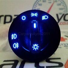 VW GOLF PASSAT LUPO BORA AUDI BLUE LED HEADLIGHT SWITCH FRONT & REAR FOGLIGHTS