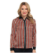 JONES NEW YORK Button Down Black & Red Size 16 XL NWT Retail $79