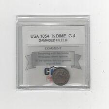 1854  USA, Liberty Seated Half Dime, V-3 Arrows Date Damaged Filler