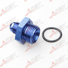 -4 AN 4AN Male Flare To -10AN AN10 Straight Cut O-Ring Fitting Aluminum Blue