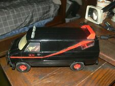 "1983 Ertl The A-Team 1/18th 12"" Black Gmc Van with Ba Driver & Nice Decals"