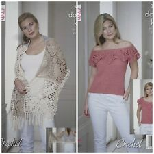 CROCHET PATTERN Ladies Granny Square Wrap and Sleeveless Top DK King Cole 5116