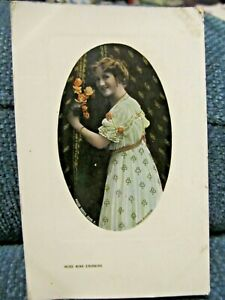 Antique UK Photo postcard Miss Nina Sevening theatre actress 1908
