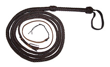 10 Foot 12 Plait Dark Brown Real Leather Bullwhip Bull Whips