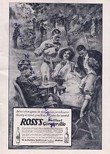 BELFAST LONDON, Anzeige 1913, W. A. Ross & Sons Ltd. Ross's Ginger Ale