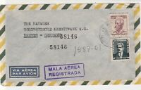 Brasil Registered Airmail to Kreditbank Germany Two Stamps Cover Ref 25377