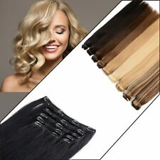 Remy Human Clip in Hair Extensions Highlight luxurious ponytail 18 clip 8 piece